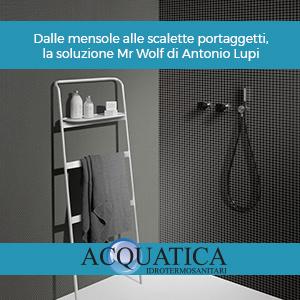 Dalle mensole alle scalette portaggetti, la soluzione Mr Wolf di Antonio Lupi
